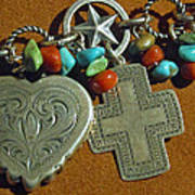 Southwest Style Jewelry With Texas Star Poster