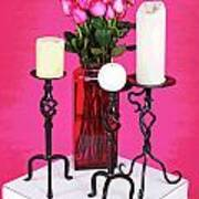 Spa Roses And Candles Poster