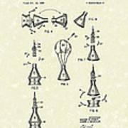 Space Capsule 1961 Patent Art #2 Poster by Prior Art Design
