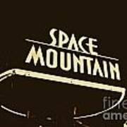 Space Mountain Sign Magic Kingdom Walt Disney World Prints Rustic Poster
