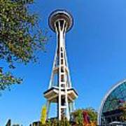 Space Needle In Seattle Washington  Poster