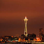 Space Needle Morning Poster
