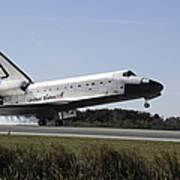 Space Shuttle Atlantis Touches Poster