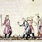 Spain: Medieval Ballgame Poster