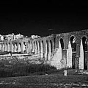 Span Of The Kamares Aqueduct Larnaca Republic Of Cyprus Europe The Aqueduct Was Built In 1750 Poster