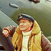 Spitfire Pilot Poster