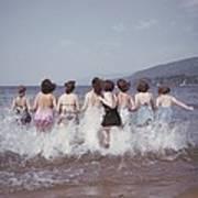 Splashing Into Lake George Poster