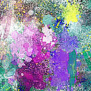Splattered Colors Abstract Poster