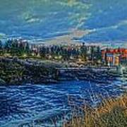 Spokane Falls  From Howard St Bridge Poster