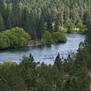 Spokane River Scene 2 Poster