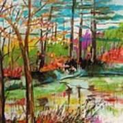 Spring Pond Side Poster