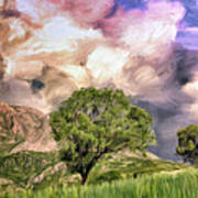 Spring Storm In Tuscany Poster