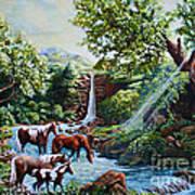 Srb Wild Horses Poster