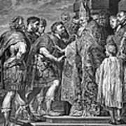 St. Ambrose & Theodosius Poster