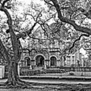 St. Charles Ave. Mansion Monochrome Poster