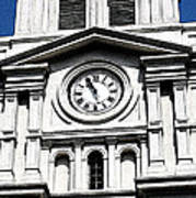 St Louis Cathedral Clock Jackson Square French Quarter New Orleans Fresco Digital Art Poster