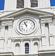 St Louis Cathedral Clock Jackson Square French Quarter New Orleans Poster