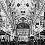 St. Louis Cathedral Monochrome Poster