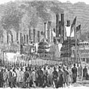 St. Louis: Steamboats, 1857 Poster