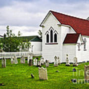 St. Luke's Church In Placentia Newfoundland Poster by Elena Elisseeva