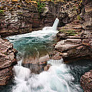 St. Mary Falls Glacier National Park Poster