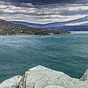 St. Mary Lake Under Stormy Skies Poster