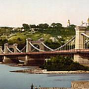 St Nicholas Bridge In Kiev - Ukraine - Ca 1900 Poster