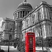 St Pauls Telephone Box Poster