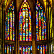 St Vitus Main Altar Stained Glass Poster