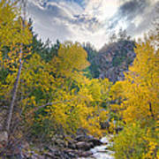 St Vrain Canyon Autumn Colorado View Poster