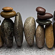 Stacked River Stones Poster