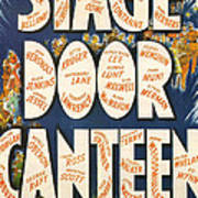 Stage Door Canteen Poster by Georgia Fowler