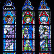 Stain Glass At Notre Dame Cathedral Parus Poster