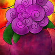 Stained Glass Florals Poster by Melisa Meyers