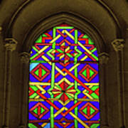 Stained Glass Window In Mezquita Poster