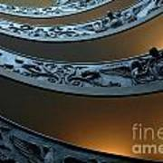 Staircase At The Vatican Poster by Bob Christopher
