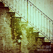 Stairs On A Rainy Day II Poster