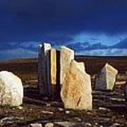 Standing Stones, Blacksod Point, Co Poster