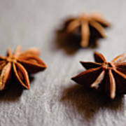 Star Anise On Slate Tray Poster by Alexandre Fundone