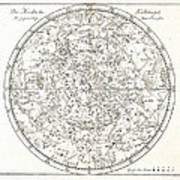Star Map, 1805 Poster by Detlev Van Ravenswaay