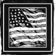 Star Spangled Banner Bw Poster