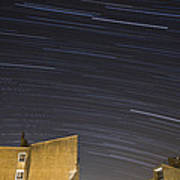 Star Trails Over Ljubljana Poster
