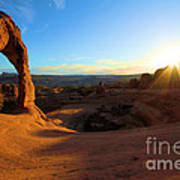Starburst At Delicate Arch Poster