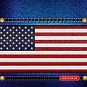 Stars And Stripes Denim Poster by Jane Rix