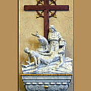 Station Of The Cross 11 Poster