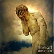 Statue Of Human Covering Face Poster by Bernard Jaubert
