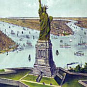 Statue Of Liberty. The Great Bartholdi Poster by Everett