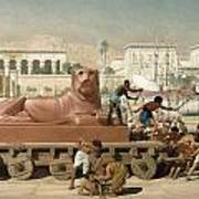 Statue Of Sekhmet Being Transported  Detail Of Israel In Egypt Poster by Sir Edward John Poynter