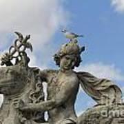 Statue . Place De La Concorde. Paris. France Poster by Bernard Jaubert