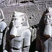Statues Of Ramses II Poster by Granger